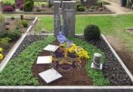 Ландшафтный дизайн при благоустройстве могил на кладбище - 21