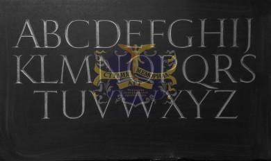 Шрифт для надписей на памятникахМемориал