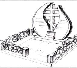 Эскиз памятника очень важен. Он позволяет увидеть памятник до начала работ. - 2378
