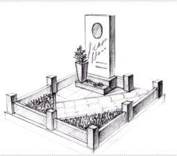 Эскиз памятника очень важен. Он позволяет увидеть памятник до начала работ. - 2382