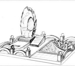 Эскиз памятника очень важен. Он позволяет увидеть памятник до начала работ. - 2389
