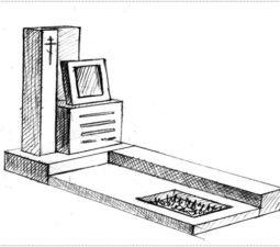 Эскиз памятника очень важен. Он позволяет увидеть памятник до начала работ. - 2390