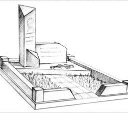 Эскиз памятника очень важен. Он позволяет увидеть памятник до начала работ. - 2391