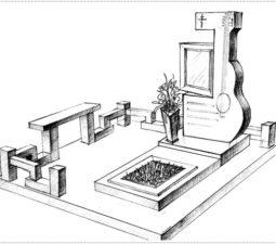 Эскиз памятника очень важен. Он позволяет увидеть памятник до начала работ. - 2395