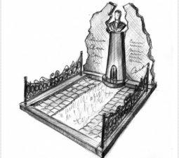 Эскиз памятника очень важен. Он позволяет увидеть памятник до начала работ. - 2396