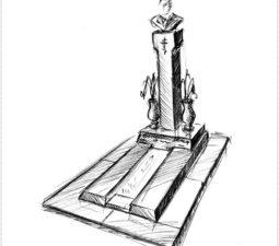 Эскиз памятника очень важен. Он позволяет увидеть памятник до начала работ. - 2399