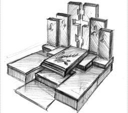 Эскиз памятника очень важен. Он позволяет увидеть памятник до начала работ. - 2400