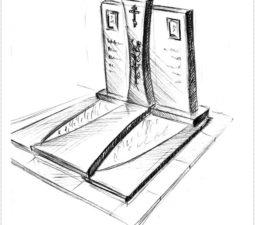 Эскиз памятника очень важен. Он позволяет увидеть памятник до начала работ. - 2402