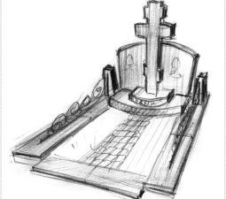 Эскиз памятника очень важен. Он позволяет увидеть памятник до начала работ. - 2403