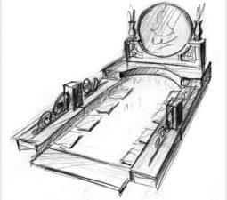 Эскиз памятника очень важен. Он позволяет увидеть памятник до начала работ. - 2407