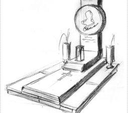 Эскиз памятника очень важен. Он позволяет увидеть памятник до начала работ. - 2412