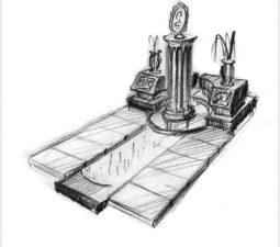 Эскиз памятника очень важен. Он позволяет увидеть памятник до начала работ. - 2414
