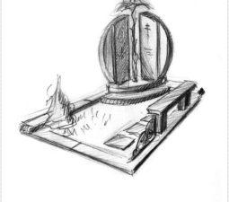 Эскиз памятника очень важен. Он позволяет увидеть памятник до начала работ. - 2415