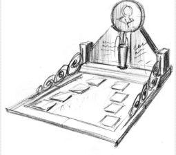 Эскиз памятника очень важен. Он позволяет увидеть памятник до начала работ. - 2420