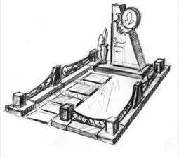 Эскиз памятника очень важен. Он позволяет увидеть памятник до начала работ. - 2424