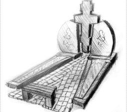Эскиз памятника очень важен. Он позволяет увидеть памятник до начала работ. - 2427