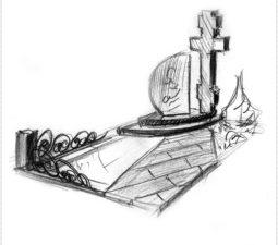 Эскиз памятника очень важен. Он позволяет увидеть памятник до начала работ. - 2428