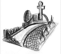 Эскиз памятника очень важен. Он позволяет увидеть памятник до начала работ. - 2430