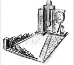 Эскиз памятника очень важен. Он позволяет увидеть памятник до начала работ. - 2431