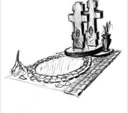 Эскиз памятника очень важен. Он позволяет увидеть памятник до начала работ. - 2432
