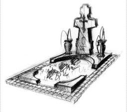 Эскиз памятника очень важен. Он позволяет увидеть памятник до начала работ. - 2433