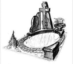 Эскиз памятника очень важен. Он позволяет увидеть памятник до начала работ. - 2435