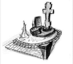 Эскиз памятника очень важен. Он позволяет увидеть памятник до начала работ. - 2436