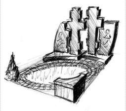 Эскиз памятника очень важен. Он позволяет увидеть памятник до начала работ. - 2438