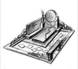 Эскиз памятника очень важен. Он позволяет увидеть памятник до начала работ. - 2443