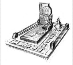 Эскиз памятника очень важен. Он позволяет увидеть памятник до начала работ. - 2444