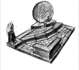 Эскиз памятника очень важен. Он позволяет увидеть памятник до начала работ. - 2445