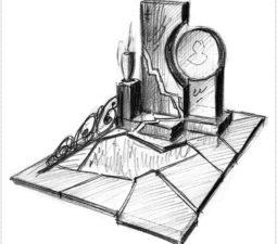 Эскиз памятника очень важен. Он позволяет увидеть памятник до начала работ. - 2446