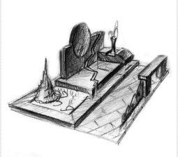 Эскиз памятника очень важен. Он позволяет увидеть памятник до начала работ. - 2447