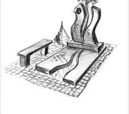 Эскиз памятника очень важен. Он позволяет увидеть памятник до начала работ. - 2448