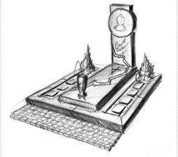 Эскиз памятника очень важен. Он позволяет увидеть памятник до начала работ. - 2449