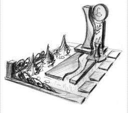 Эскиз памятника очень важен. Он позволяет увидеть памятник до начала работ. - 2453