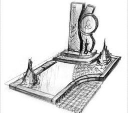 Эскиз памятника очень важен. Он позволяет увидеть памятник до начала работ. - 2454