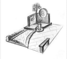 Эскиз памятника очень важен. Он позволяет увидеть памятник до начала работ. - 2457