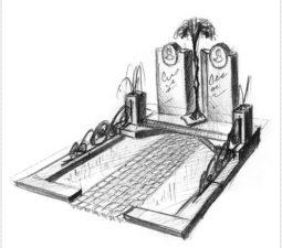 Эскиз памятника очень важен. Он позволяет увидеть памятник до начала работ. - 2458