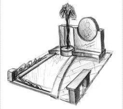 Эскиз памятника очень важен. Он позволяет увидеть памятник до начала работ. - 2459