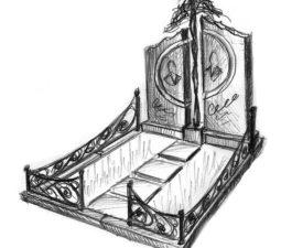 Эскиз памятника очень важен. Он позволяет увидеть памятник до начала работ. - 2461