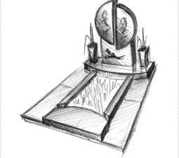 Эскиз памятника очень важен. Он позволяет увидеть памятник до начала работ. - 2465