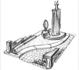 Эскиз памятника очень важен. Он позволяет увидеть памятник до начала работ. - 2469
