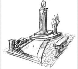 Эскиз памятника очень важен. Он позволяет увидеть памятник до начала работ. - 2470