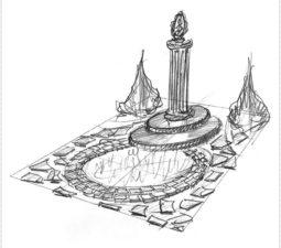 Эскиз памятника очень важен. Он позволяет увидеть памятник до начала работ. - 2471