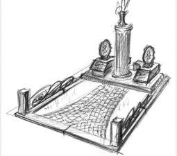 Эскиз памятника очень важен. Он позволяет увидеть памятник до начала работ. - 2472