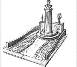 Эскиз памятника очень важен. Он позволяет увидеть памятник до начала работ. - 2473
