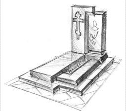 Эскиз памятника очень важен. Он позволяет увидеть памятник до начала работ. - 2475
