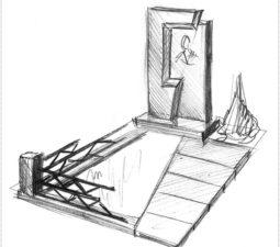 Эскиз памятника очень важен. Он позволяет увидеть памятник до начала работ. - 2476