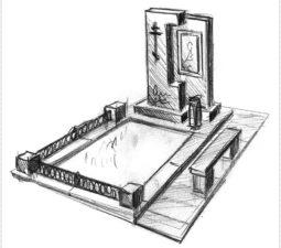 Эскиз памятника очень важен. Он позволяет увидеть памятник до начала работ. - 2477